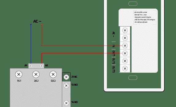 Hướng dẫn đấu nối điều khiển Contactor bằng Công tắc itot